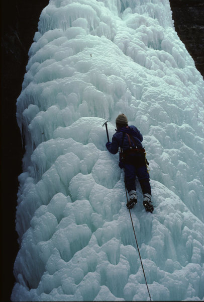 Rock Climbing Photo: Bill Lenze leading Wildcat- Feb 1984