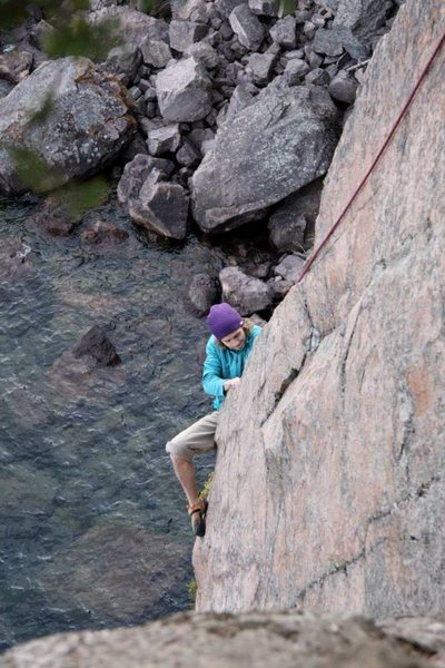 Rock Climbing Photo: Just pulling past the roof.