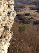 Rock Climbing Photo: Joy Cox working on Deceivious.
