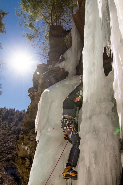Joe Szot takes his tools for a walk in the Devils Kitchen. Photo credit: Harry Young