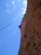 Rock Climbing Photo: James on Itsy Bitsy Spider