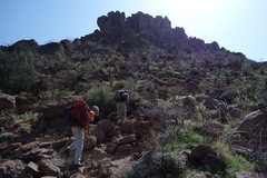 "Rock Climbing Photo: Hiking on up there. It is the ""longest"" ..."