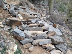 Rock Climbing Photo: Did a lot of trail work this year at the Homestead...
