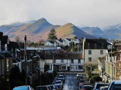 Rock Climbing Photo: View of the hills from the town of Keswick . Engli...