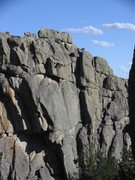 Rock Climbing Photo: Zach and Rachael summit this block by using a invi...