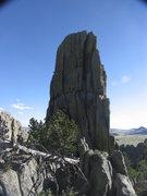 Rock Climbing Photo: Zach belaying Rachael up the dark side.