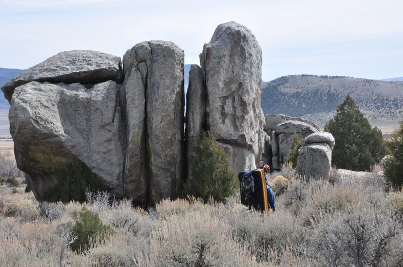 not the City, but close. Bouldering at nearby Castle Rocks