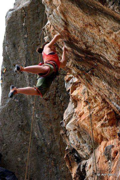 No Gain No Lose! 5.11c <br> Climber: Ayça Algün