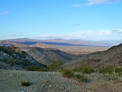 Rock Climbing Photo: Pinto Basin from the top of Black Eagle Mine Road,...