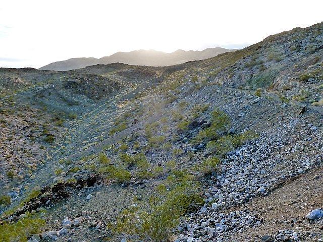 The last bit of road to Iron Chief Mine, Joshua Tree NP