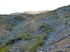 Rock Climbing Photo: The last bit of road to Iron Chief Mine, Joshua Tr...