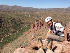 Rock Climbing Photo: DAS and the view north from the top of RR. Wow, ye...