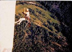 Rock Climbing Photo: Tracy Dorton pitch 24 second pendulum A2 Photo: Mi...
