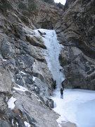 Rock Climbing Photo: Susan Davis photos the ice.