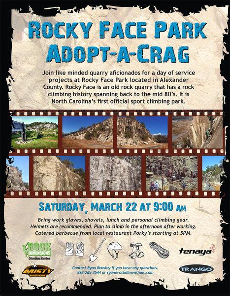 Rocky Face Adopt-a-Crag Flyer