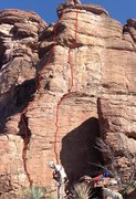 Rock Climbing Photo: Ptarmigan Cling is the right line (yes, it was COL...