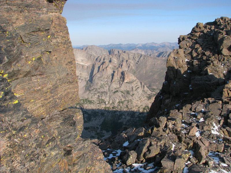 Arrowhead from Long's Peak's Keyhole Ridge.