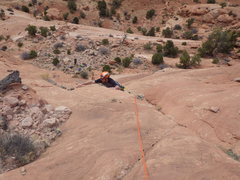 Rock Climbing Photo: roge at the top moves
