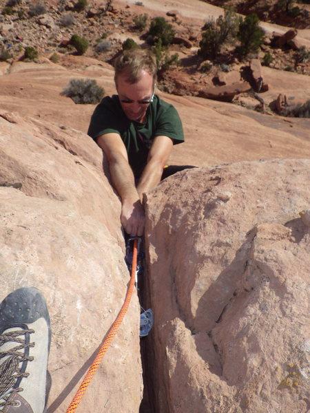 Rock Climbing Photo: work it