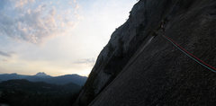 Rock Climbing Photo: The Apron. Diedre. Think this is the first or seco...