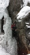 Rock Climbing Photo: In early March without much ice on the route.