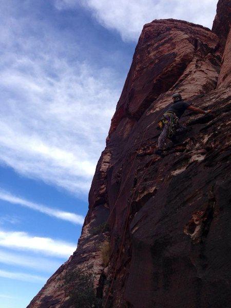 Winter Heat Wall, retrieving ropes.