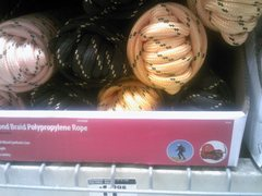 Rock Climbing Photo: climbing rope at the Home Depot!!!