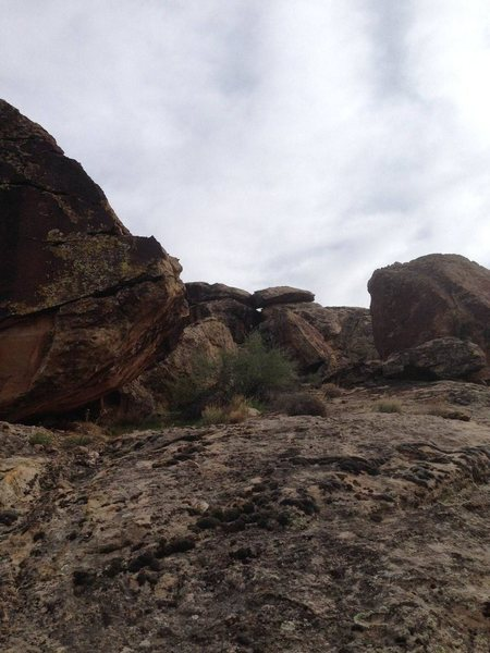 Rock Climbing Photo: This is the view looking up to the Padded Room Are...