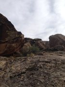Rock Climbing Photo: This is a picture taken from the main trail that l...