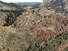 Rock Climbing Photo: Top of Red Rock Wall in center right.