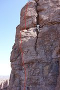 "Rock Climbing Photo: Red line marks ""Beak n Chains"", AMH on &..."