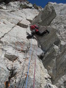 Rock Climbing Photo: Pitch 1 of Lichen It 5.10d (Mt Gimli)