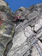 Rock Climbing Photo: Pitch 3 of Lichen It (5.10d)
