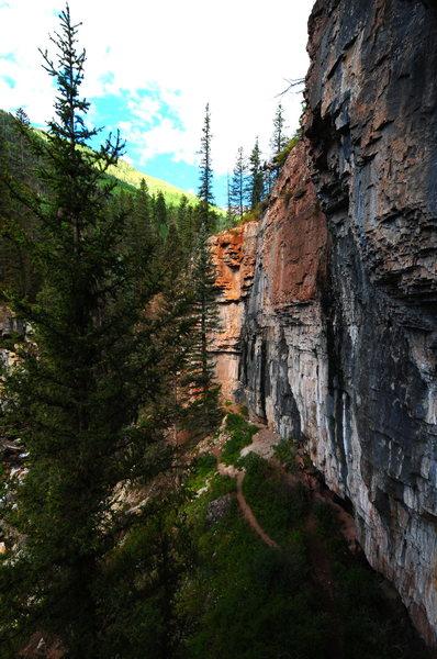 Headbanger's Wall and Colorfest Wall of Cascade.