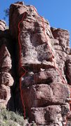 Rock Climbing Photo: The Perch is shown by the right line. DAS at ancho...