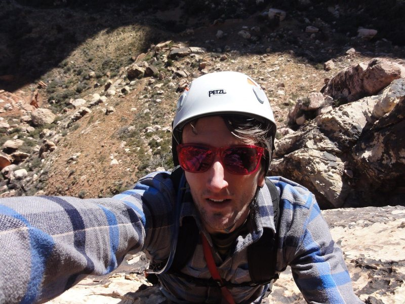 Rock Climbing Photo: Selfies are a good way to avoid butt shots, right?
