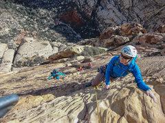 Rock Climbing Photo: 5 person party from Boston cruising Solar Slab inc...