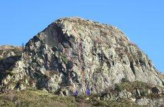 Rock Climbing Photo: A) Route 1. E3 5c B) Walk on the Wild Side HVS 5a ...