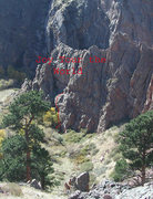 Rock Climbing Photo: Joy Tour the World is the leftmost on these bulges...