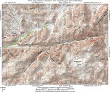 Rock Climbing Photo: Map 3:  a topo map for the lands from Post Cyn to ...