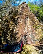 Rock Climbing Photo: The Tall boy boulder has four established lines an...