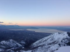 Rock Climbing Photo: Heading down from summit during sunrise!
