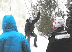 Rock Climbing Photo: latest ice dancing moves taught today!