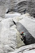 Rock Climbing Photo: On the opening moves of MA 1 - photo by Garret Nuz...