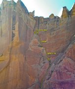 "Rock Climbing Photo: ""Desert Mishap"" about 1 mile up the cany..."