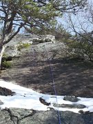 Rock Climbing Photo: Snow at the start made it a bit tricky. Very runou...