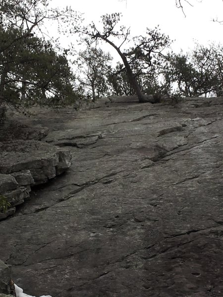 Rock Climbing Photo: My first slab route. Okay holds