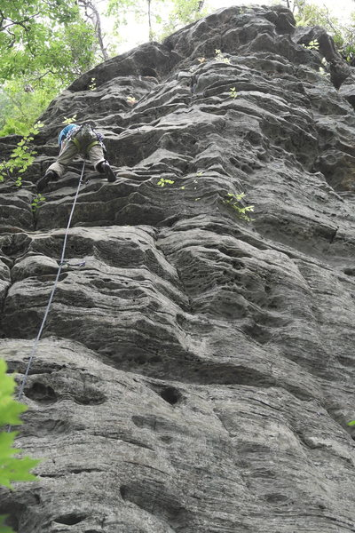 Rock Climbing Photo: Heading up Love Potion #9 past the sloping section