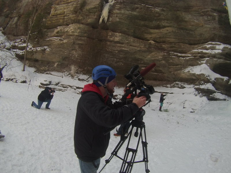 Rock Climbing Photo: News Crew