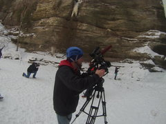 Rock Climbing Photo: News Crew